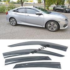 For 16-Up Honda Civic 4Door Mugen Style Window Frame Rain Guard Visor Shield