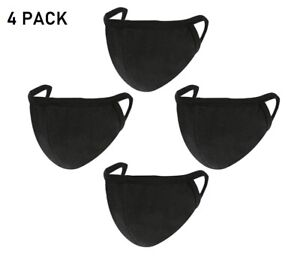 4 PACK COTTON FACE Mask Covering Reusable Protective Unisex Ear Loops UK