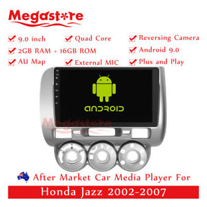 """9"""" Android 10.1 Quad Core Car non DVD Media Player GPS For Honda Jazz 2002-2007"""