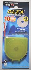 1x RB45-10 -Olfa - Rotary Klingen in Plastik-Box. 45mm. in Blister (=10 Klingen)