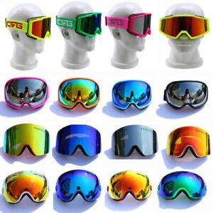 UK Fashion Skiing Snowboarding Goggles Double Lens Anti-fog UV Snow Ski Goggles