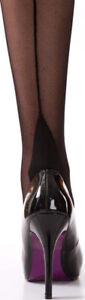 Silver Legs Italian 15 Denier Seam Stockings (4 Colour Ways In Medium Or Large)