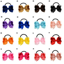 1PC Baby Kids Fashion Ribbon Bow Elastic Rubber Bands Hair Rope Tie Accessories