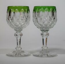 """2 Baccarat """"Juvisy"""" Wine Glasses, Cut to Clear"""