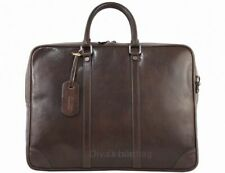 Italian Genuine Leather Briefcase / Workbag / Business Bag / Folder  dark brown