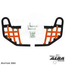Yamaha Raptor 350   Nerf Bars   Alba Racing  Black Orange 209 T1 BO