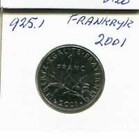 1 FRANC 2001 FRANCE French Coin #AN330CW