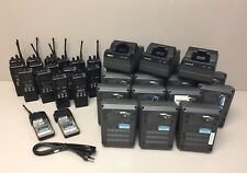 Lot Of Ericsson M/A Com LPE-200 Radios Batteries Chargers And Power Cords