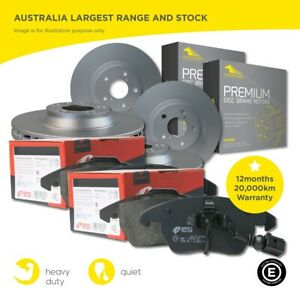 Front and Rear Full Set Brake Pads and Disc Rotors for VW Crafter 2E 07-18 SRW