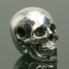 Human Skull Solid Sterling Silver 13.65 mm Focal Bead for Bracelet Pendant 7.40g