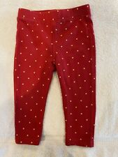 Tea Collection Red with PolkaDots Leggings Pants Size 18-24Months