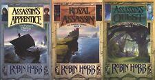 Assassin's Apprentice Royal Assassin Quest Robin Hobb Trilogy UK HCs 1st/1sts
