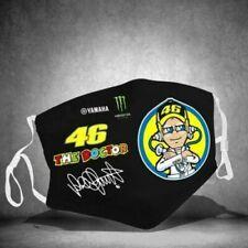 "Valentino-Rossi-46-The-Doctor-Bike Coth  Face Mask ""White strap"""