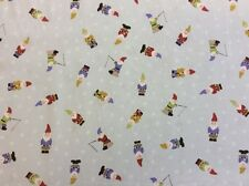 Lewis And Irene - Grandma's Garden Col:2 D#A199 Gnomes 100% Cotton By 1/4 Metre