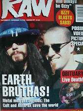 RAW MAGAZINE 57 - THE CULT - ANTHRAX - DOGS D'AMOUR - SCORPIONS