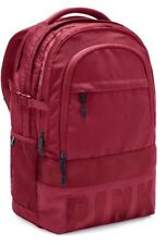NWT Victoria's Secret PINK Collegiate Backpack Bag Burgundy FAST FREE SHIPPING