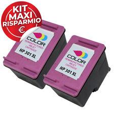 2 Cartucce Rigenerate HP301XL Colore per Deskjet 2510 ENVY 4500 Officejet 4630