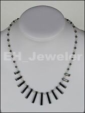 "Necklace Hematite and Agate 19.5"" Semi-Precious Stone"