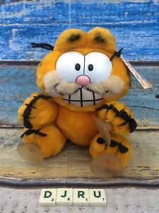 "Garfield Dakin Stuck On You 7"" Plush Doll w/ Suction Cups Window Cling Vtg 1981"