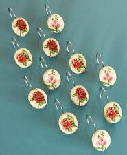 Set of 12 Vintage Floral Shower Hooks -