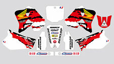 FOX WHITE  HONDA CR 125 95-97 CR 250 95-96 DECAL STICKER GRAPHIC KIT