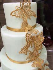 25 EDIBLE SUGAR LACE Butterflies WEDDING BABY BIRTHDAY ANNIVERSARY ENGAGEMENT