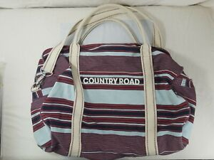 Genuine Country Road Stripe Duffle Bag Gym Sports Leisure Travel As Pictured