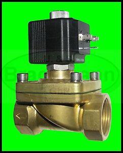 """Magnetventil SVS 1"""" Messing 12V DC 0-7bar NC Heizung Wasser Luft"""