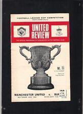 Manchester United vs Burnley Match Programme 20th October 1969