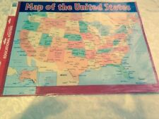 2 Teaching Tree Educational Posters Map of the Us Pledge of Allegiance large
