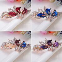 Fashion Women Girl Butterfly Claw Crystal Rhinestone Hair Clip Clamp Hairpin