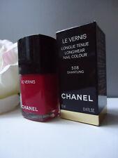508 SHANTUNG CHANEL Deep Red Longwear Nail Colour Nail Varnish New Mint in Box