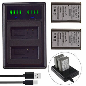 2 BLN-1 Battery for Olympus OMD M-5 M5 II EM1 E-M1 PEN F E-P5 +Slim USB Charger