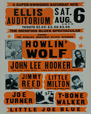 Howlin Wolf - J.L. Hooker - T-Bone Walker Concert Photo - 8x10 Color Photo