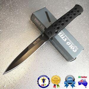 "Cold Steel Stiletto Knife 4"" Blade Flipper Knife Folding Knife camping knife"