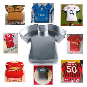 T-SHIRT SHAPE PROFESSIONAL CAKE BAKING TIN SPORTS FOOTBALL BIRTHDAY NOVELTY PAN