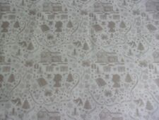 Anne of Green Gables Christmas Gray Penny Rose Quilting Cotton Fabric 1/2 YARD