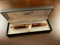 "CLONE MB ""JFK"" SPECIAL EDITION RED MARBLE & ROSE GOLD ROLLERBALL"