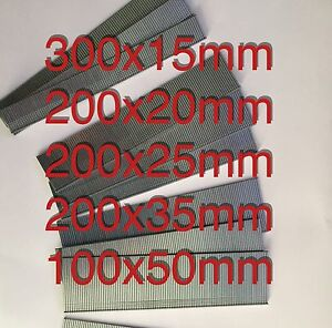 1000 Galvanized Mixed 15mm/20m/25mm/35mm/50mm Brad Nails 18Gauge/18g/180 for Gun
