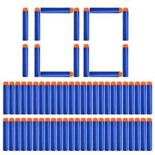 100Pcs Nerf Soft Toy Gun Bullets Round Head Air Hole Foam Darts Bullet 7.2cm US