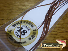 #18 BROWN WHITING 100's PACK DRY FLY SADDLE HACKLE FEATHERS WHITING FARMS NEW