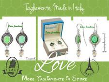 US$500 TAGLIAMONTE Earring ITALY Emerald Green Venetian Glass Pearl Silver SALE
