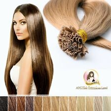 "Pre Bonded Nail U Tip Indian Remy Hair Extension 18"" #613 Light Blonde 50pcs"