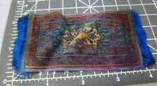 Vintage 1910-1915 Cigar Box Felt silk doll house size rug, colors have run a bit