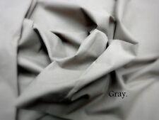 2.5 Yard 100 %Cotton Plain Grey Cloth Natural Light Weight Fabric Jaipur