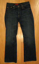 AG ADRIANO GOLDSCHMIED THE ANGEL  DARK DISTRESSED LOW RISE FLARE JEANS 28/32