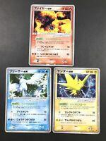 Pokemon Card Japanese Moltres ex Articuno ex Zapdos ex Holo Promo Players Club
