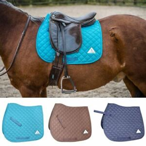 Saddlecloth Saddle Pads Diamond Quilted Numnah Jumping Event 6 Colours 2 Sizes