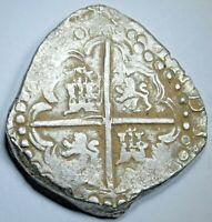1600's Porto Bello Hoard Spanish Silver 8 Reales Colonial Dollar Pirate Cob Coin