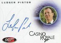 James Bond in Motion 2008 Ludger Pistor as Mendel Autograph Card A100